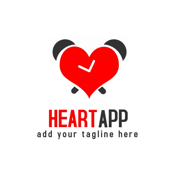 heart app Logotipo template