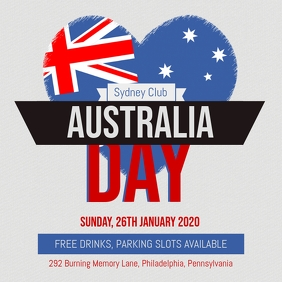 Heart Australia Day Event Invitation