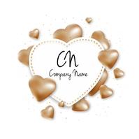 Heart Ballon Logo template