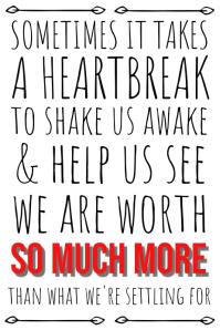 Heart Break Quote Poster Template