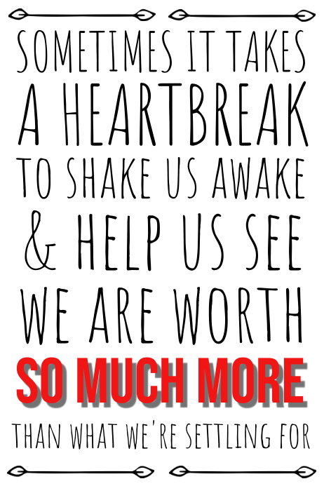 Heart Break Quote Poster Template
