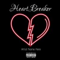 Heart Breaker Album Cover template