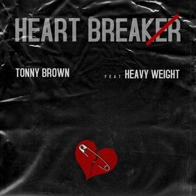 HEART BREAKER ALBUM COVER RNB RAP HIP HOP ALB template