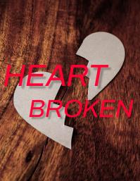 HEART BROKEN FLYER template