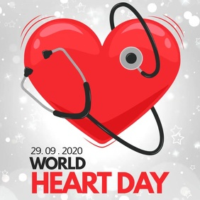 heart day, world heart day Square (1:1) template