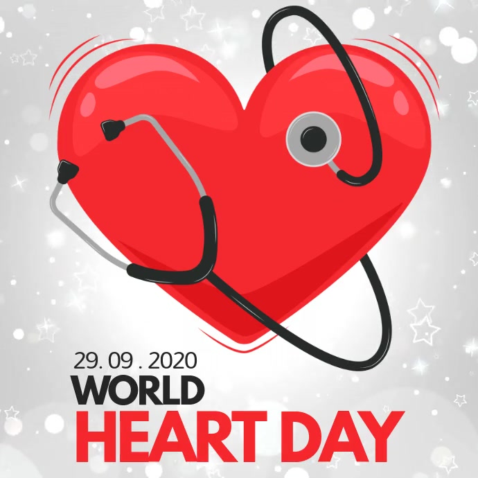 heart day, world heart day Квадрат (1 : 1) template