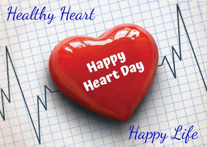 heart day Postcard template