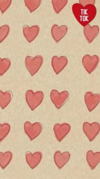 Heart drawings animation tiktok background