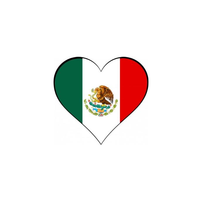 Heart Flag of Mexico Logo template