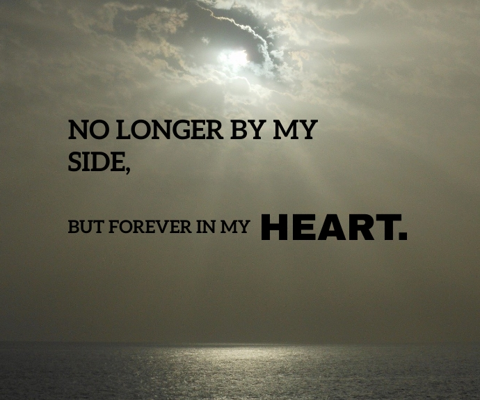 HEART FOREVER QUOTE TEMPLATE Mellemstort rektangel