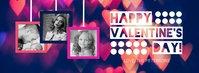 Heart Valentine's Day Photo Facebook Cover template