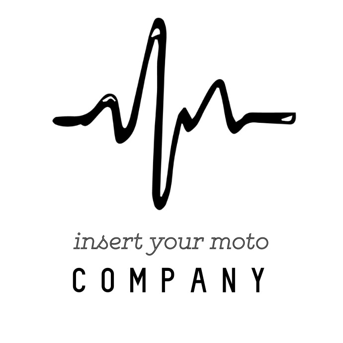 Heartbeat music ink logo template