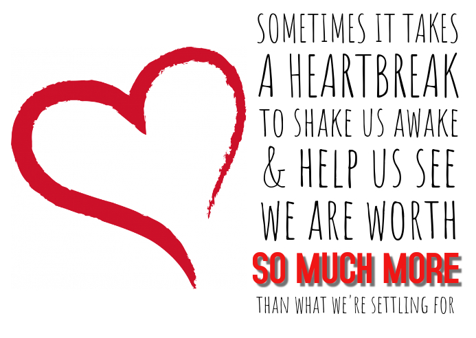 Heartbreak Quote Poster Template