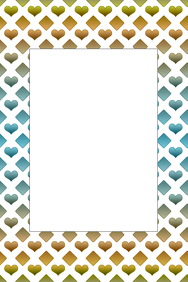 Hearts and Diamonds Party Prop Frame