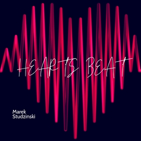 Hearts Beat Music Mixtape CD Cover Art template