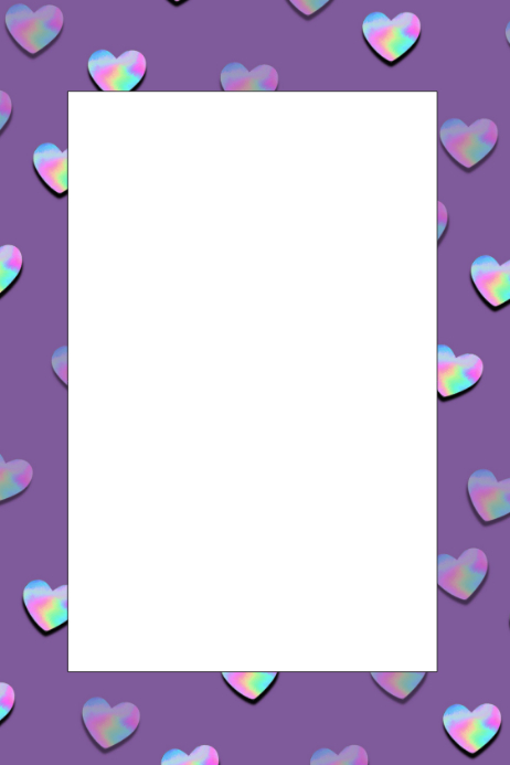 Hearts Party Prop Frame