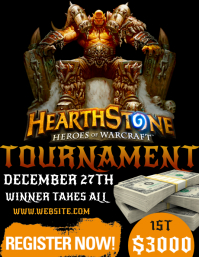 HEARTSTONE EVENT FLYER