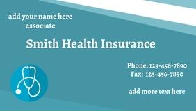 heath insurance business card template