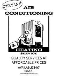 HEATING & COOLING Pamflet (Letter AS) template