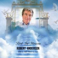 Heaven Funeral Rest In Peace โพสต์บน Instagram template