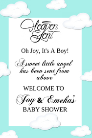 Heaven Sent Baby Shower Welcome Sign