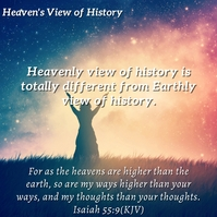 Heaven View of History Inspirational Template Instagram Post
