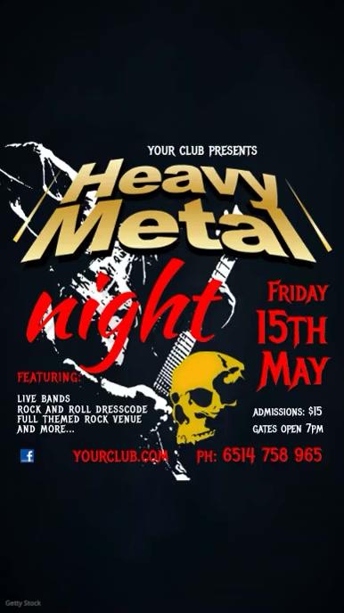 Heavy Metal Concert Template
