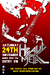 heavy metal gig poster