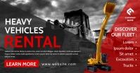 heavy vehicles rental facebook advertisement template