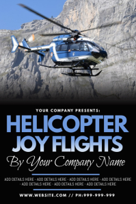 Helicopter Joy Flights Poster
