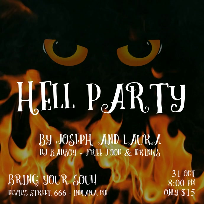 Hell Halloween Party Fire Video