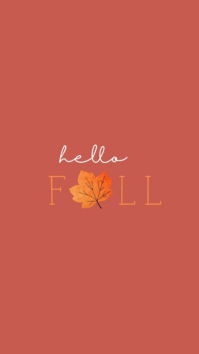 Hello Fall Instagram-verhaal template