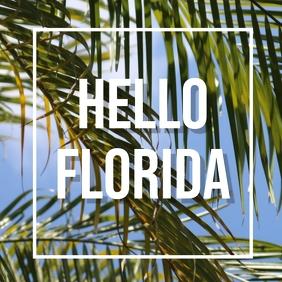 Hello florida Square (1:1) template