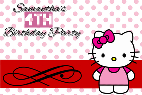 Customizable Design Templates for Hello Kitty Invitation PosterMyWall