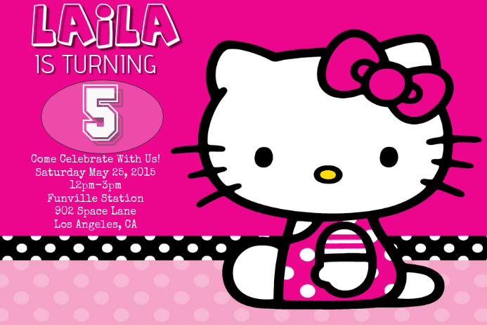 Hello Kitty Birthday Template Postermywall