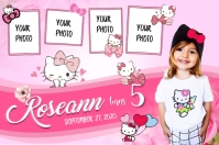18 980 Hello Kitty Birthday Party Customizable Design Templates Postermywall