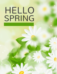 hello spring,spring Flyer (US-Letter) template