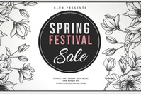 Hello spring,spring sale,spring cards,spring Poster template