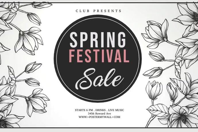 Hello spring,spring sale,spring cards,spring Poster template