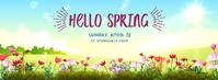 Hello Spring Fotografia de capa do Facebook template