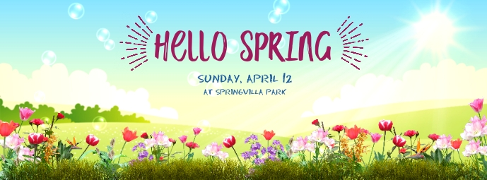 Hello Spring Copertina Facebook template