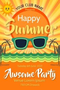 hello summer,summer vibes Poster template