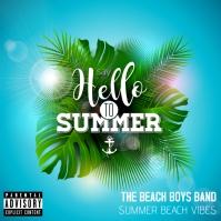 Hello Summer Album Cover Albumhoes template