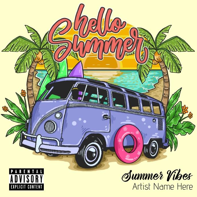 Hello Summer Album Cover template