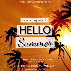 Hello Summer Celebration Event AD Template Persegi (1:1)