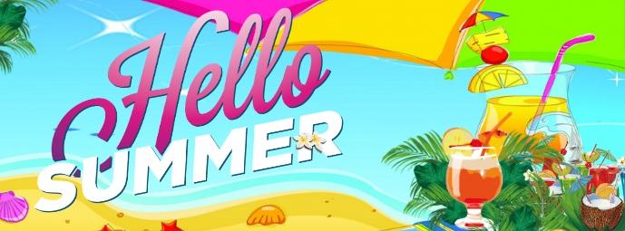 Hello Summer Фотография обложки профиля Facebook template