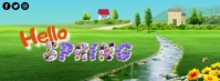 Hello Summer Cover na Larawan ng Facebook template