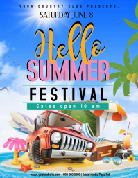Hello Summer Festival TEMPLATE