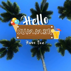 HELLO SUMMER VIDEO AD TEAPLATE