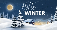 Hello winter facebook shared image template
